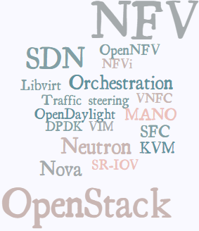 OpenStack TelcoWorkingGroup member interests in a Tag Cloud produced by WordItOut -- 4-July-2015