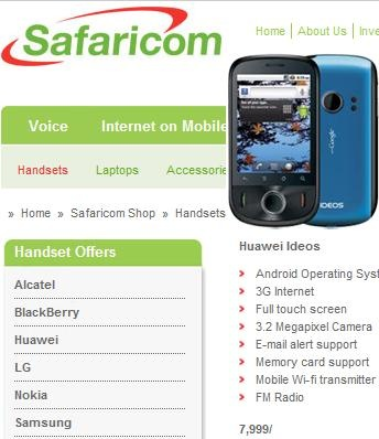 Huawei Ideos by Safaricom in Kenya -- 17-Aug-2011