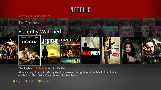 Xbox Netflix-Rio_Browse_web -- Dec-2011