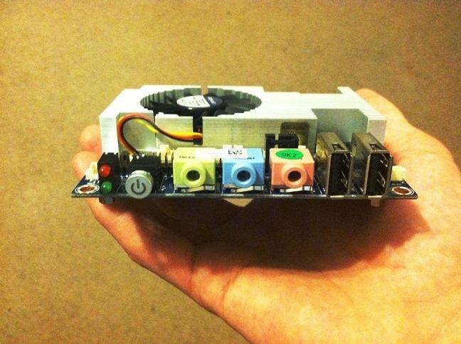 VIA EPIA-P910 Pico-ITX Motherboard in a hand