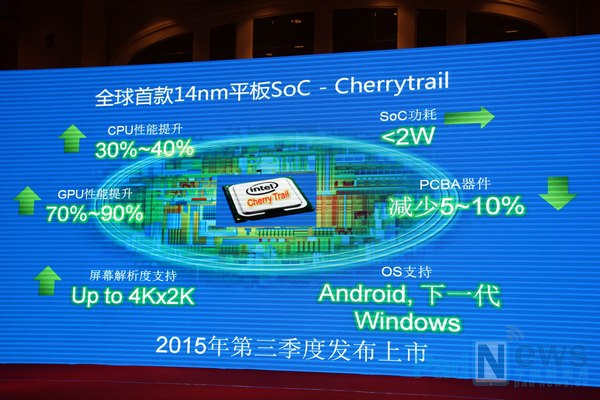 Intel's 14nm Cherry Trail platform of 2015 offering a number of impovement over current Bay Trail -15-Aug-2014