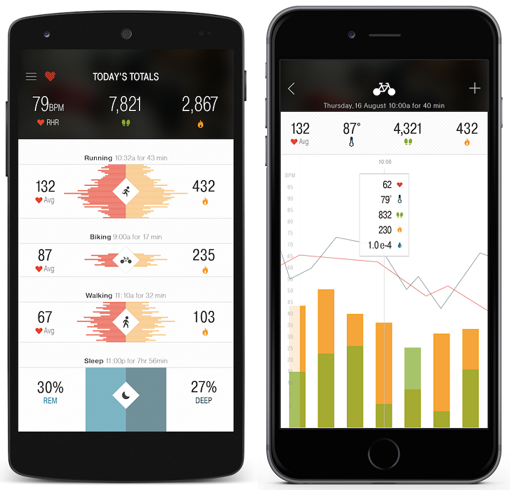 Basis Peak - The redesigned iOS or Android Peak apps