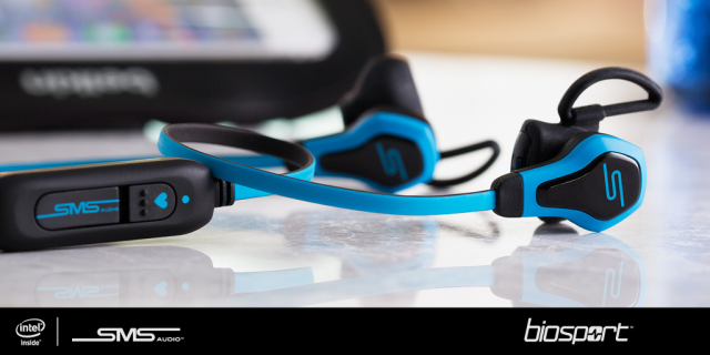 BioSport™ In-Ear headphones developed in collaboration between SMS Audio and Intel -- 3-Dec-2014