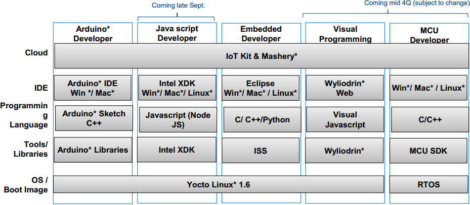 Intel Edison Developer Options -- 2014