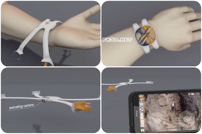 Wearable Flying Camera prototype by Nixie -- 2014