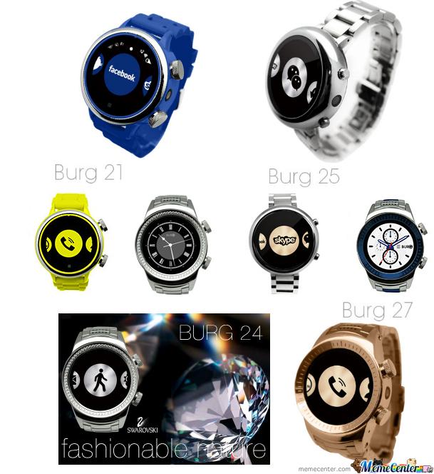 Burg 21-24-25-27 Smart Watch Phones