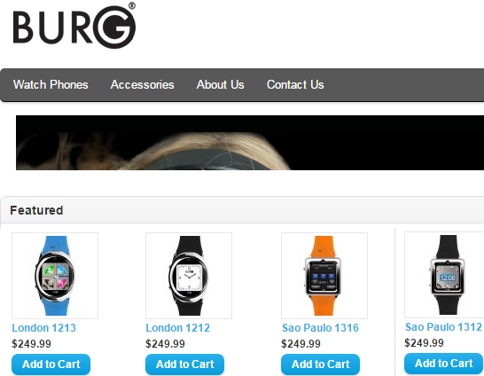 Burg Smartwatches store run by Cosmos USA, LLC