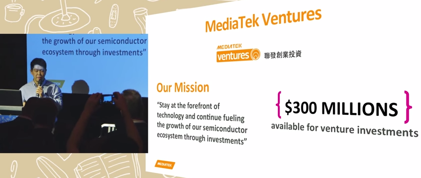 MediaTek Ventures - Mission and current investment amount