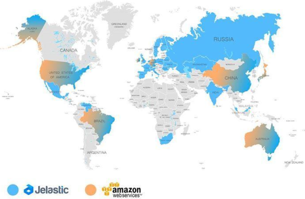 Jelastic Cloud vs AWS - available regions, data centers worldwide --1-July-2015