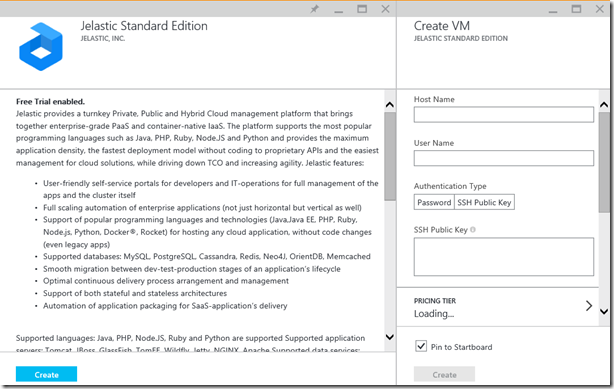 Jelastic Standard Edition on Microsoft Azure